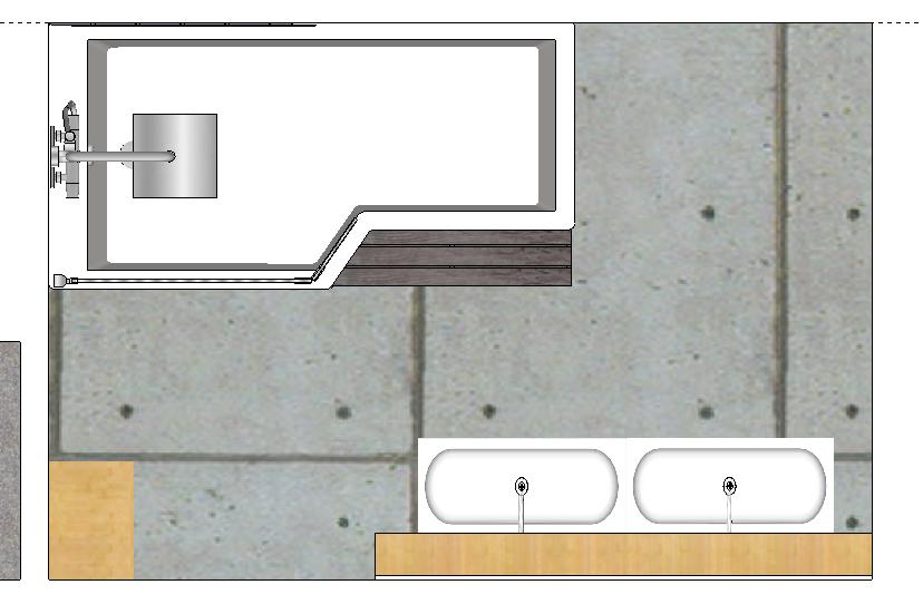 Cr er une salle de bain familiale gwenadeco for Amenagement sdb 5m2