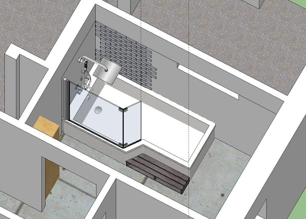 Cr er une salle de bain familiale for Creer une salle de bain en 3d