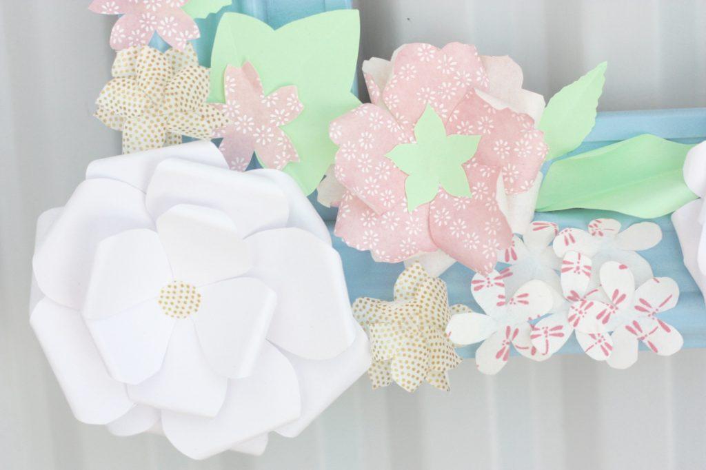 gwenadeco cadre fleurs en papier pastel 6