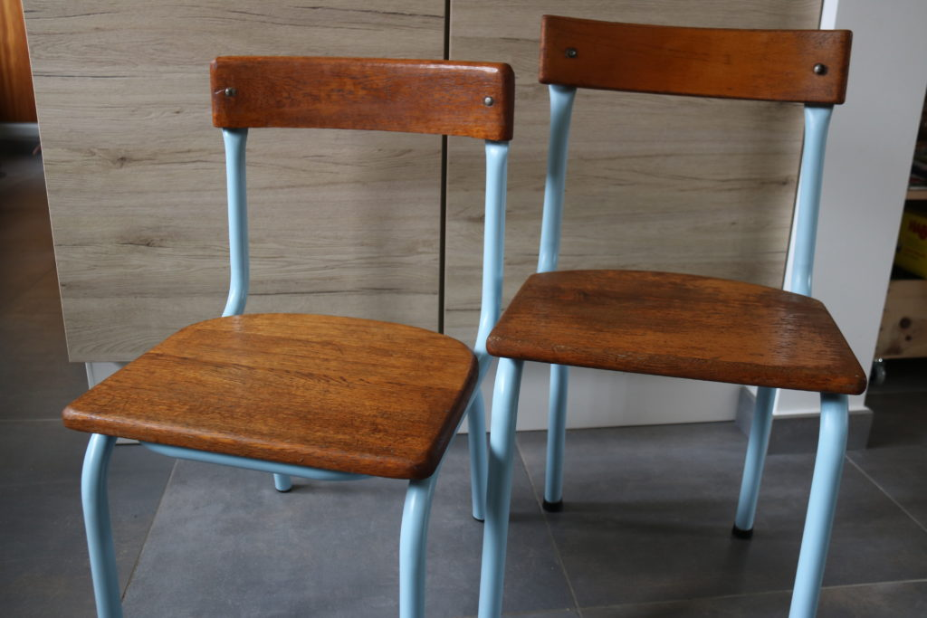gwenadeco relooking chaise d'école 2